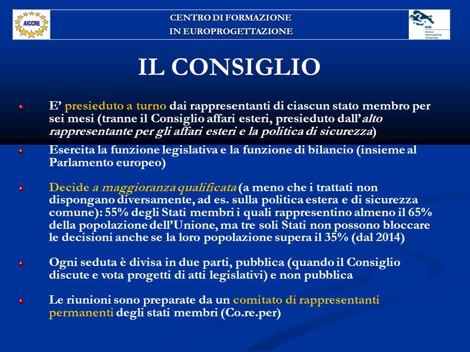 CENTRO DI FORMAZIONE IN EUROPROGETTAZIONE. IL CONSIGLIO.