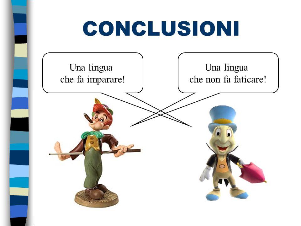 CONCLUSIONI Una lingua che fa imparare!