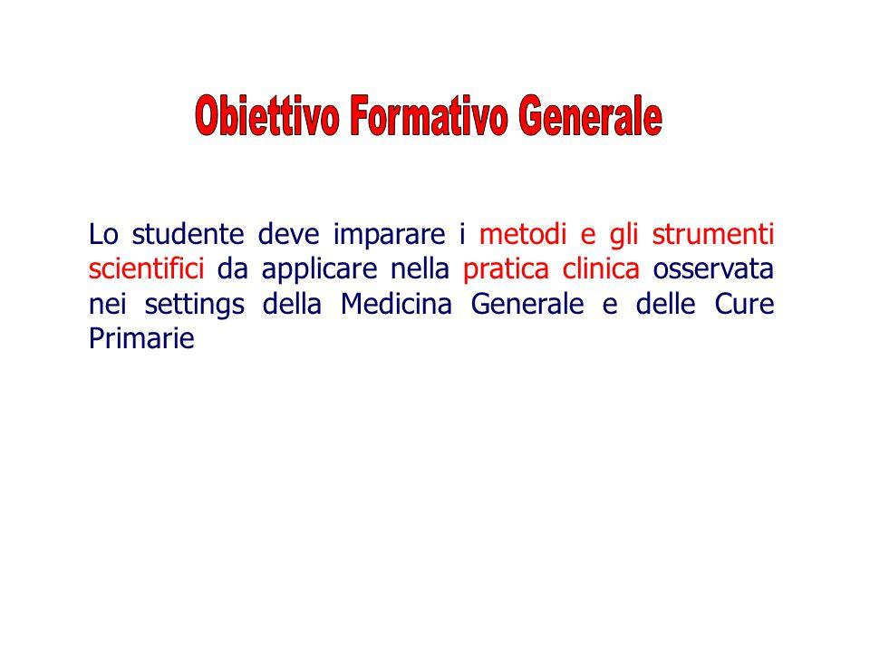 Obiettivo Formativo Generale