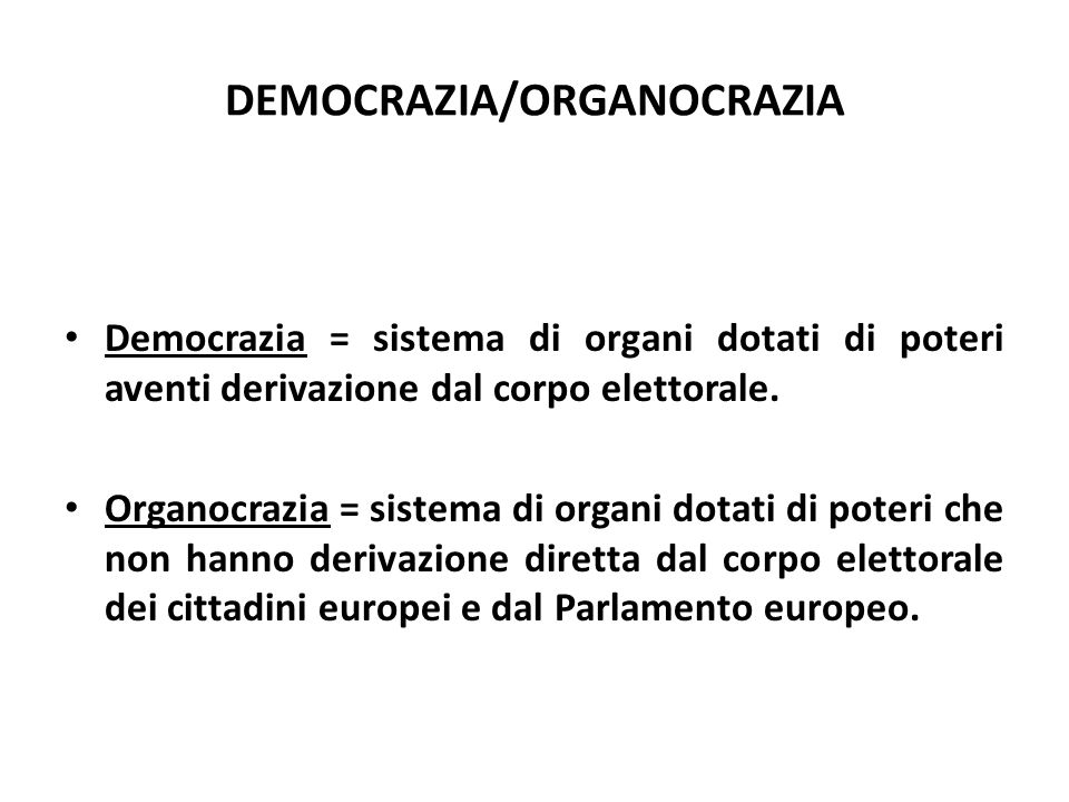 DEMOCRAZIA/ORGANOCRAZIA