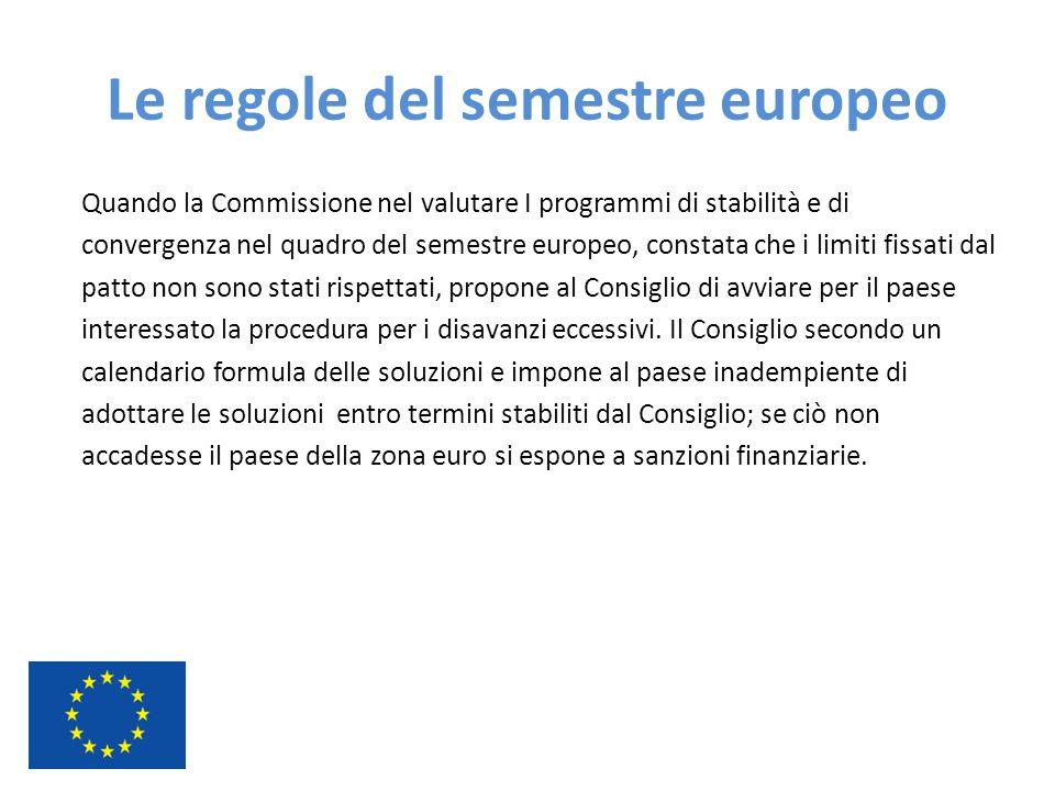 Le regole del semestre europeo