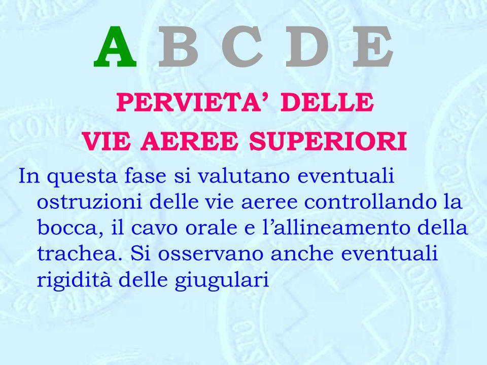 A B C D E PERVIETA' DELLE VIE AEREE SUPERIORI