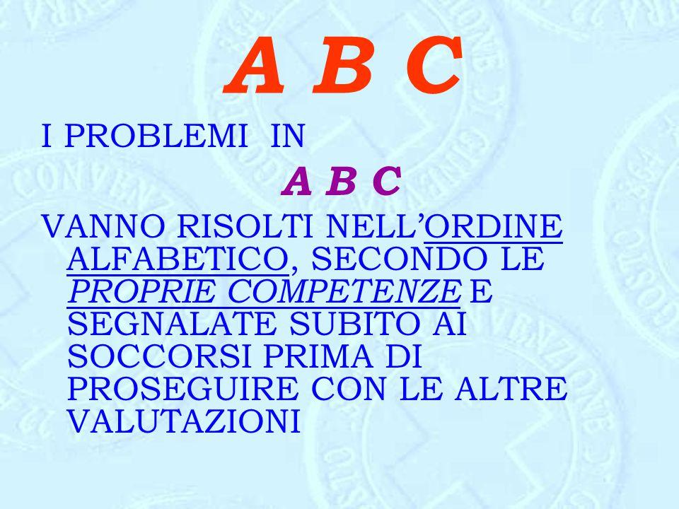 A B C I PROBLEMI IN. A B C.