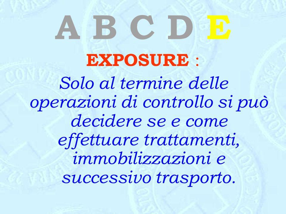 A B C D E EXPOSURE :