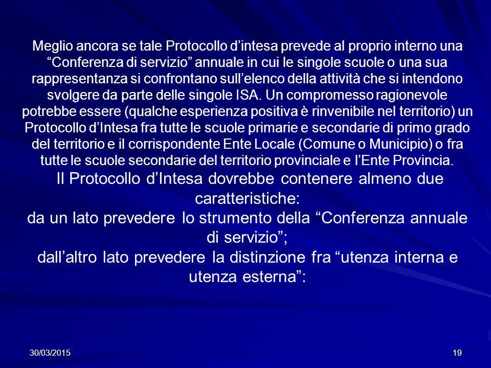 Il Protocollo d'Intesa dovrebbe contenere almeno due caratteristiche: