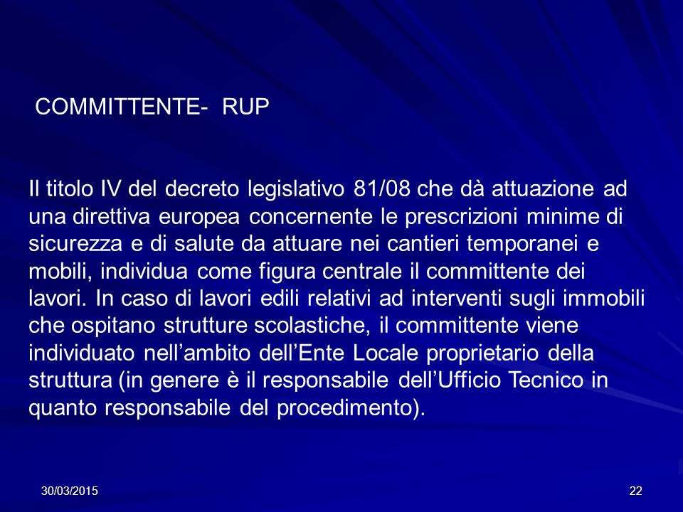 COMMITTENTE- RUP