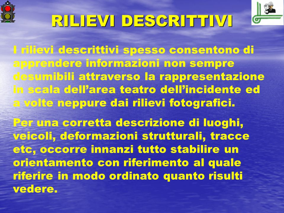 RILIEVI DESCRITTIVI