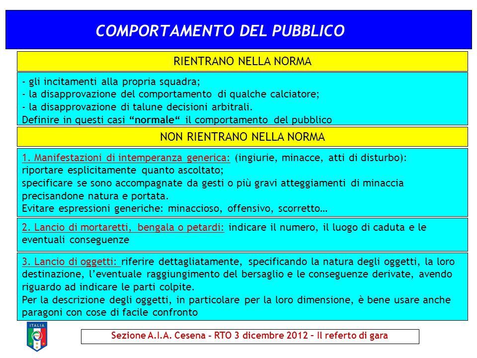 COMPORTAMENTO DEL PUBBLICO