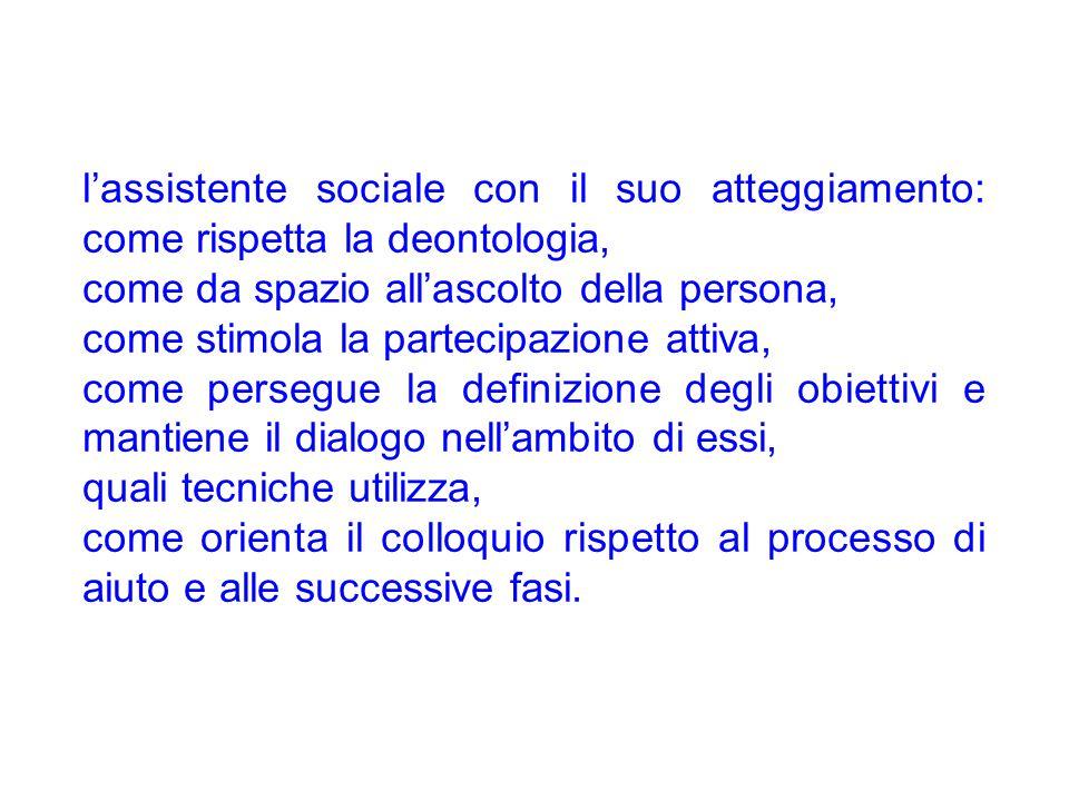 l'assistente sociale con il suo atteggiamento: come rispetta la deontologia,