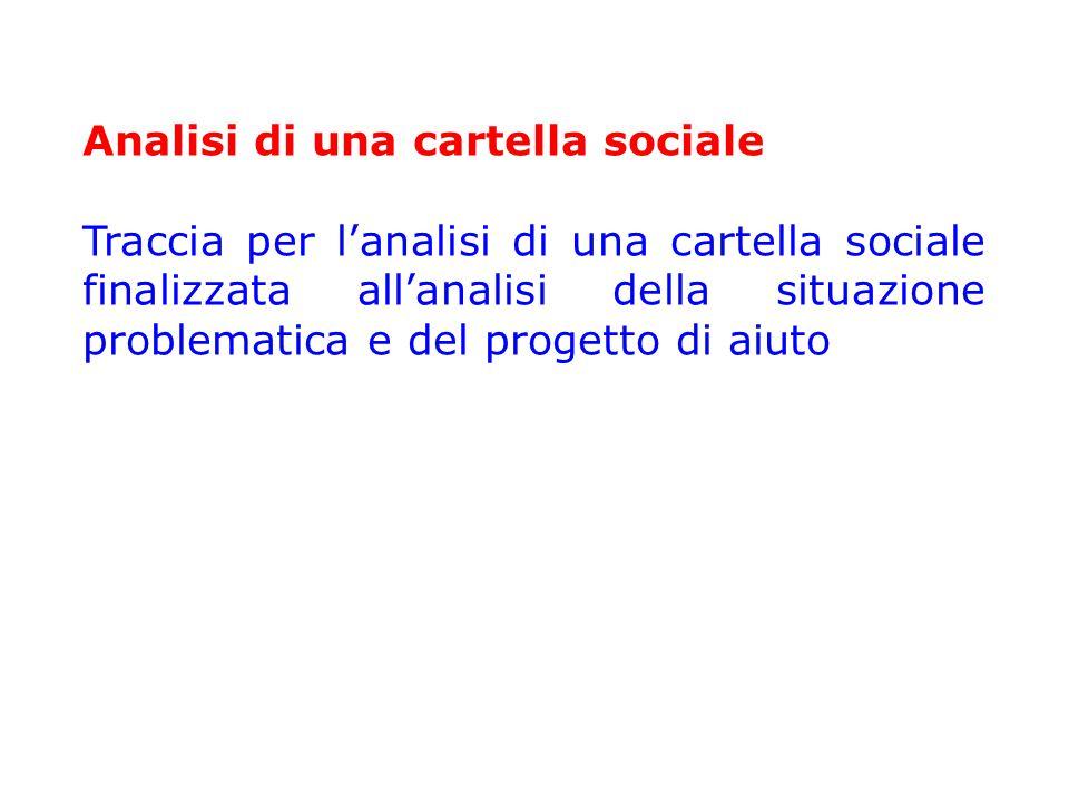 Analisi di una cartella sociale
