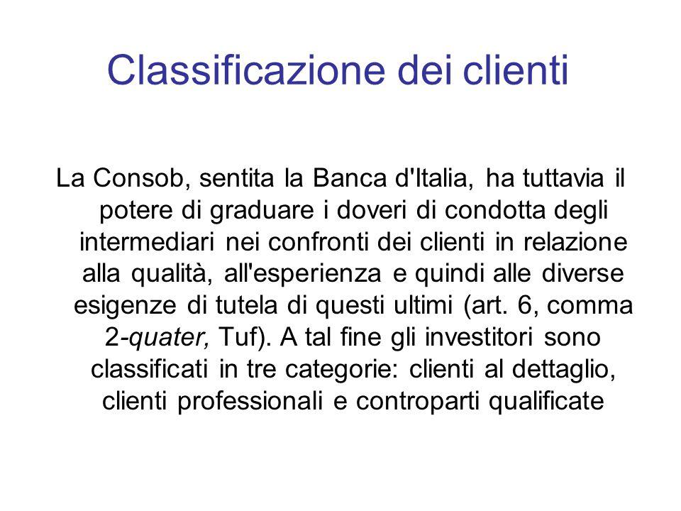 Classificazione dei clienti