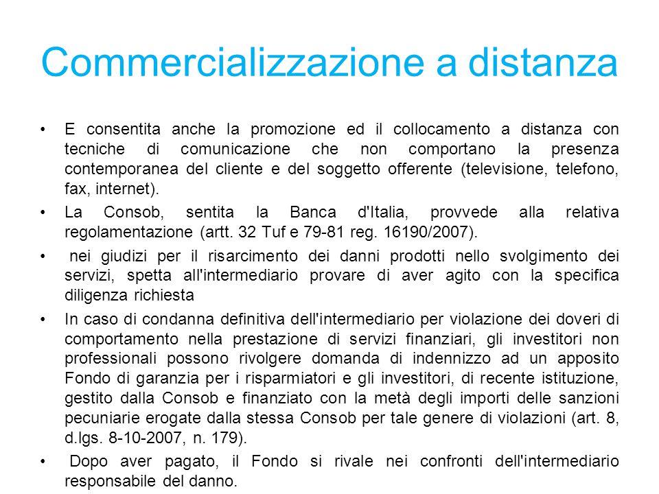 Commercializzazione a distanza