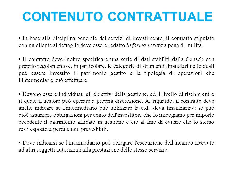 Contenuto contrattuale