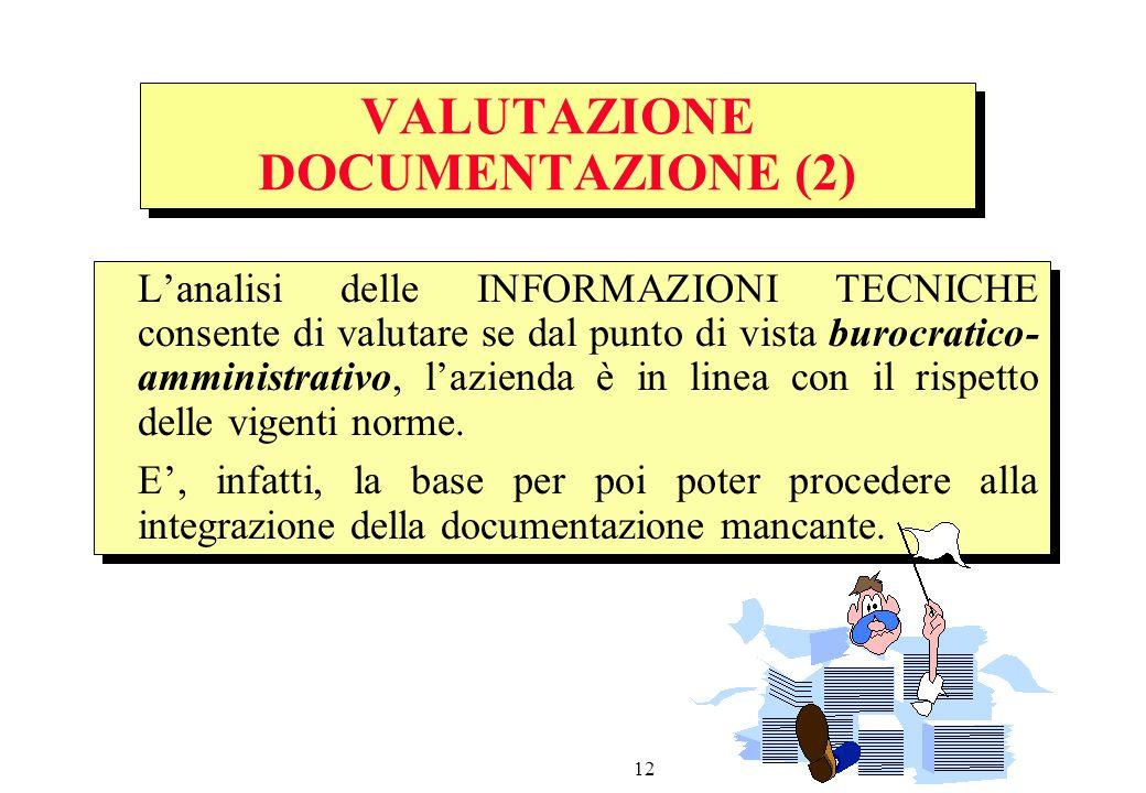 VALUTAZIONE DOCUMENTAZIONE (2)