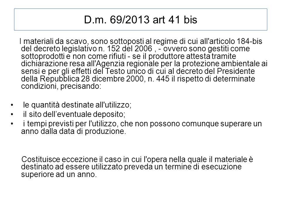 D.m. 69/2013 art 41 bis