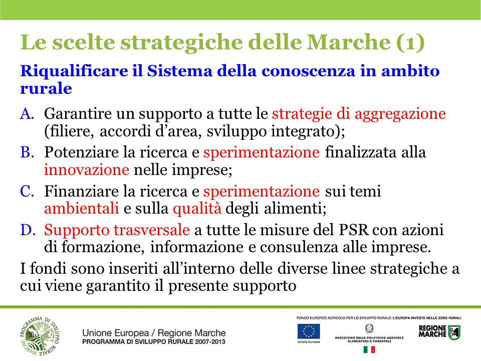 Le scelte strategiche delle Marche (1)