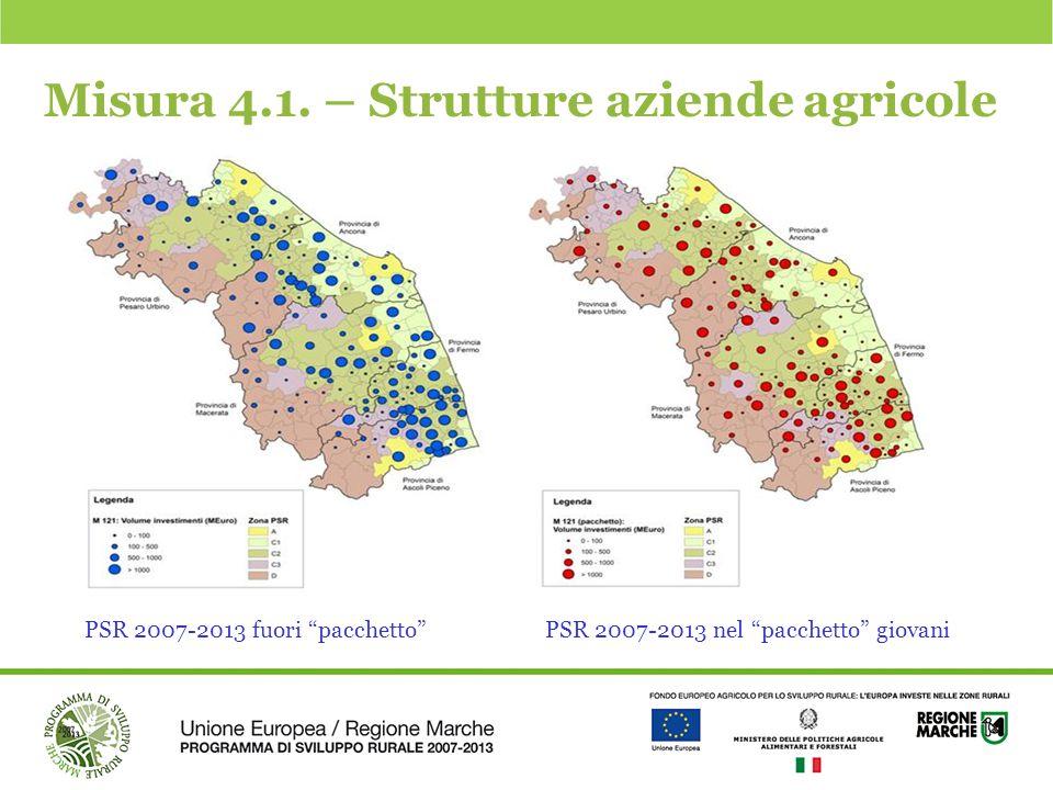 Misura 4.1. – Strutture aziende agricole