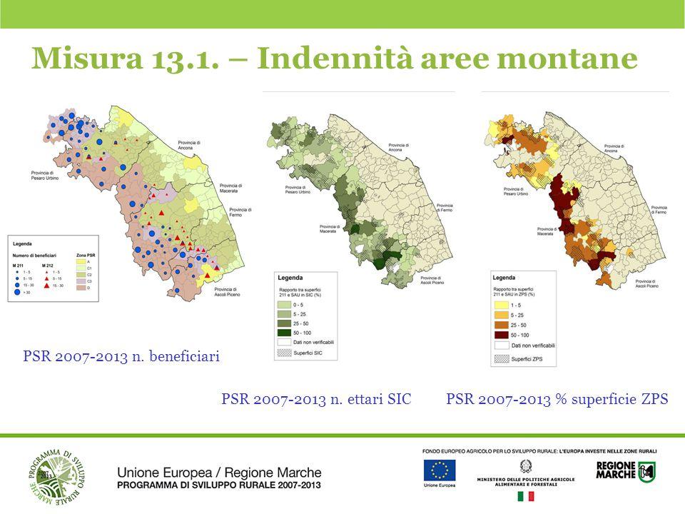 Misura 13.1. – Indennità aree montane
