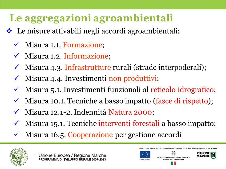 Le aggregazioni agroambientali