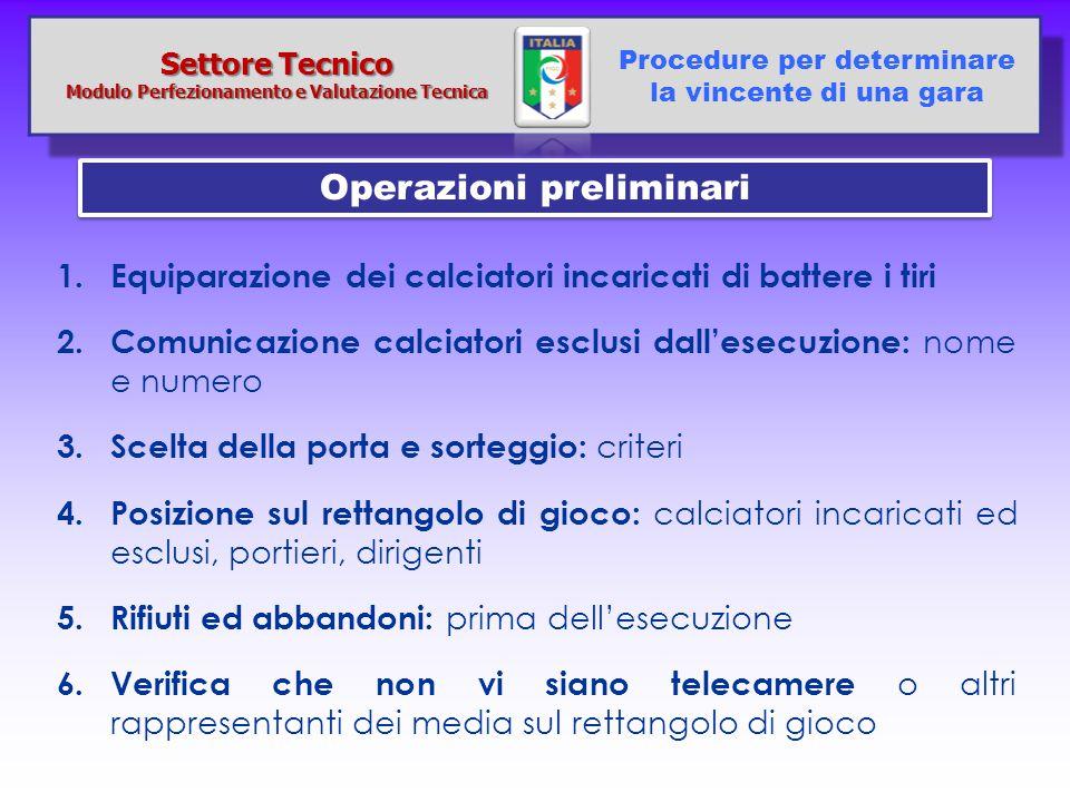 Modulo Perfezionamento e Valutazione Tecnica Operazioni preliminari
