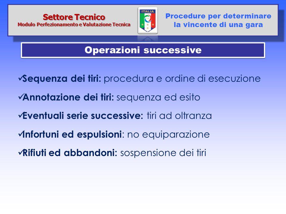 Modulo Perfezionamento e Valutazione Tecnica Operazioni successive