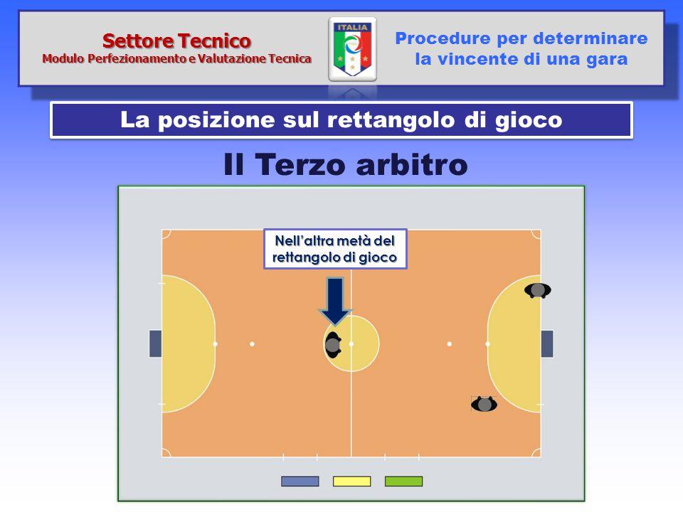Il Terzo arbitro La posizione sul rettangolo di gioco Settore Tecnico