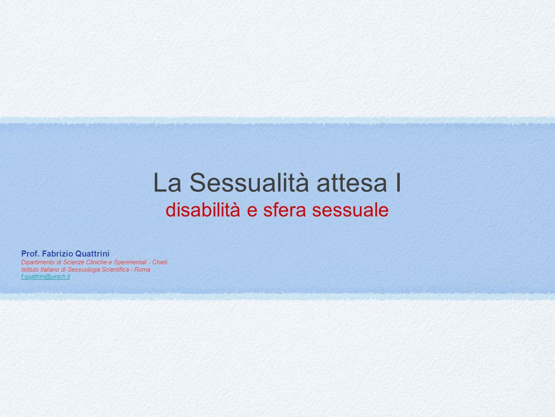 La Sessualità attesa I disabilità e sfera sessuale