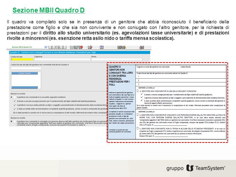 Sezione MBII Quadro D
