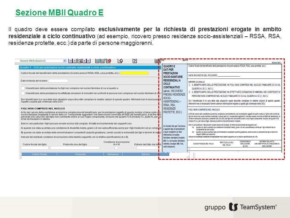 Sezione MBII Quadro E