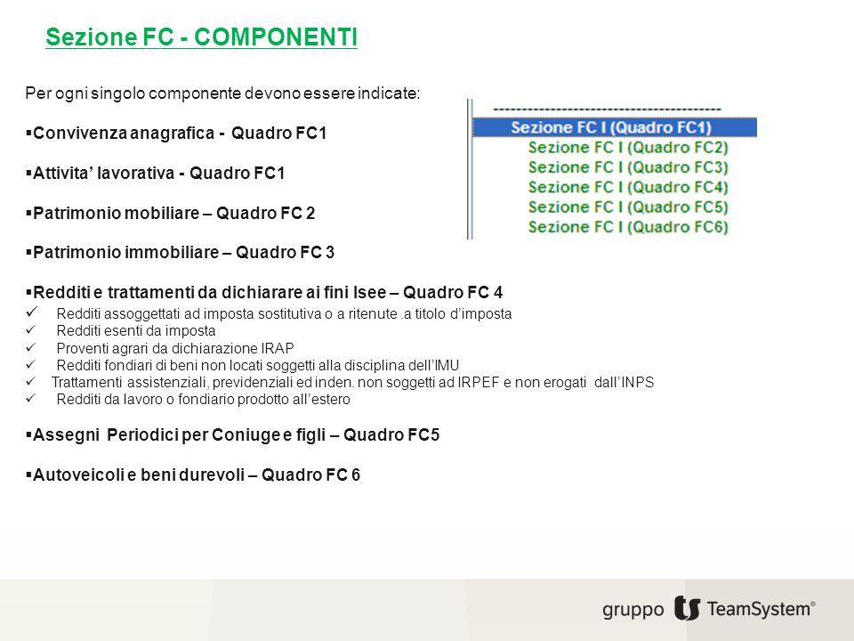Sezione FC - COMPONENTI