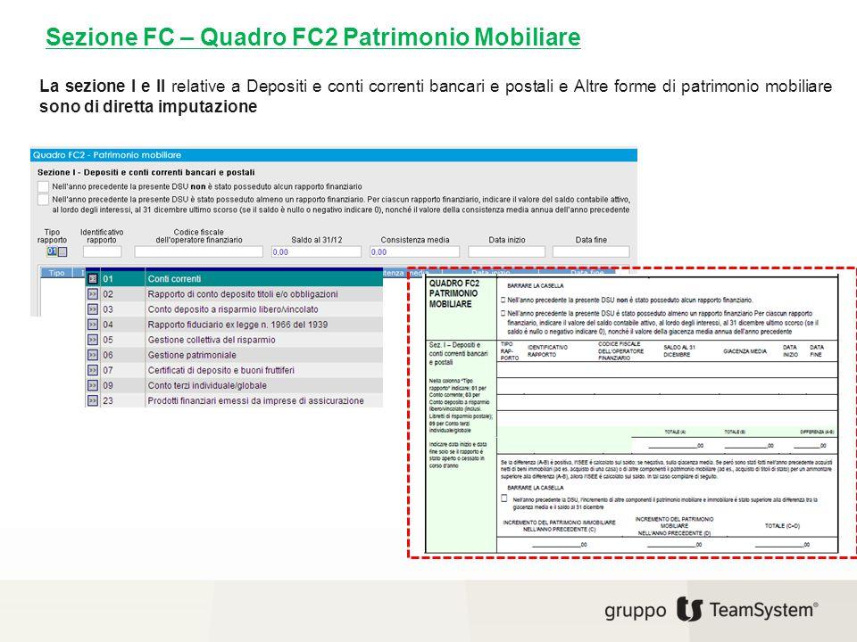 Sezione FC – Quadro FC2 Patrimonio Mobiliare