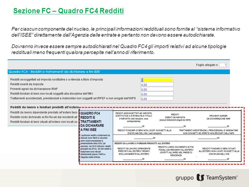 Sezione FC – Quadro FC4 Redditi
