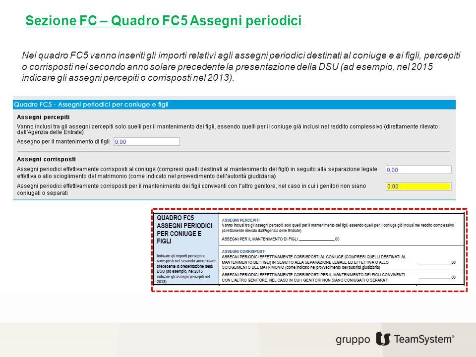 Sezione FC – Quadro FC5 Assegni periodici