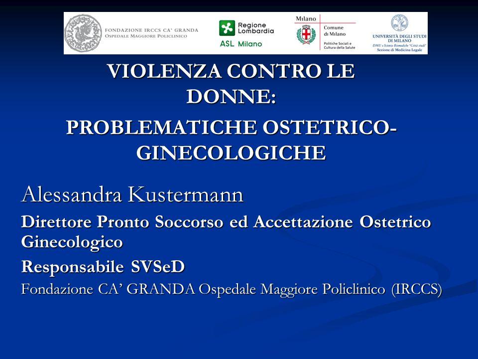 VIOLENZA CONTRO LE DONNE: PROBLEMATICHE OSTETRICO-GINECOLOGICHE