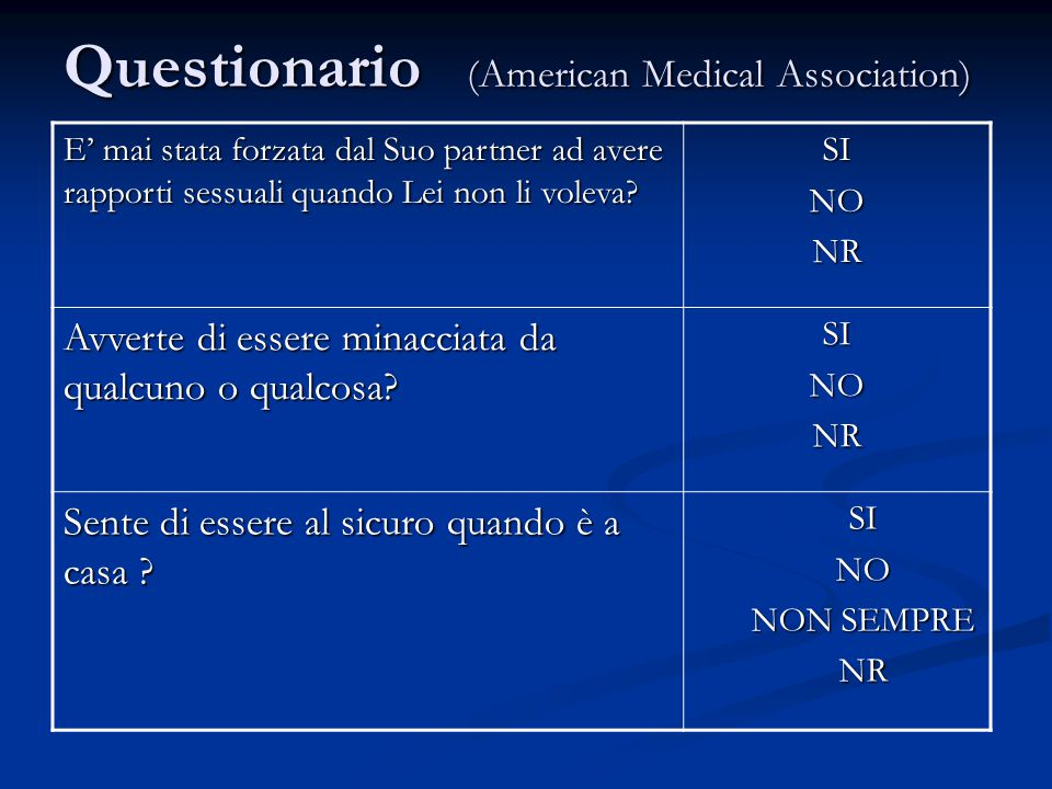 Questionario (American Medical Association)