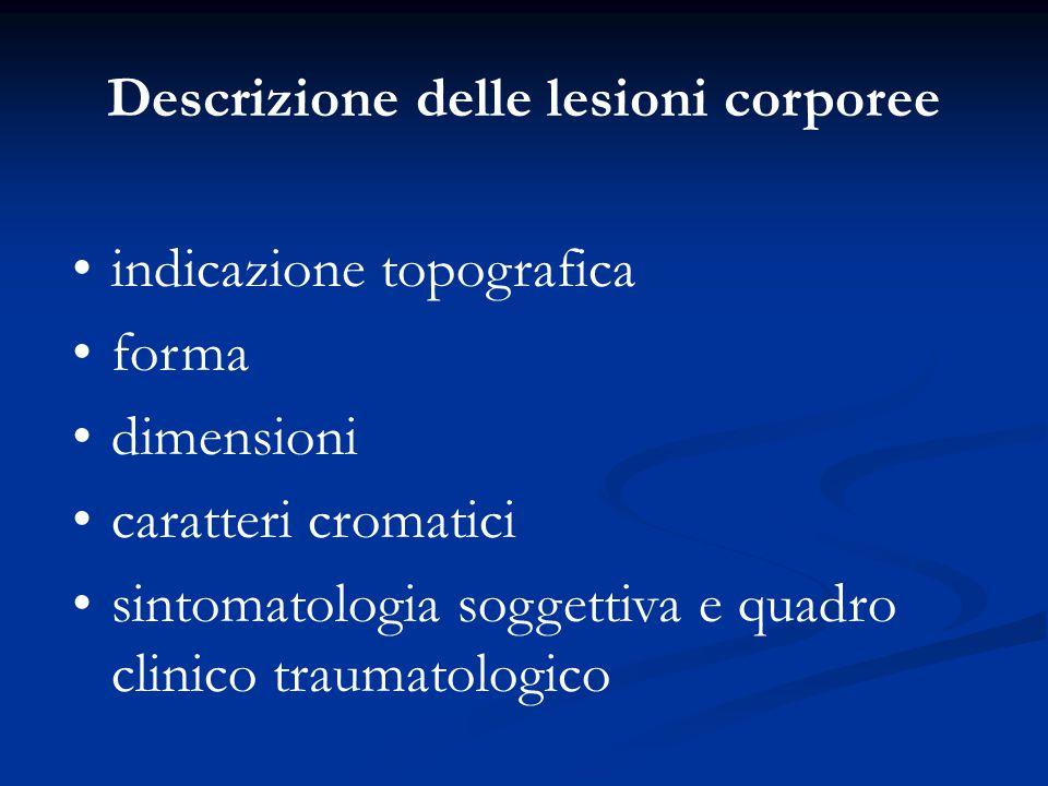 Descrizione delle lesioni corporee