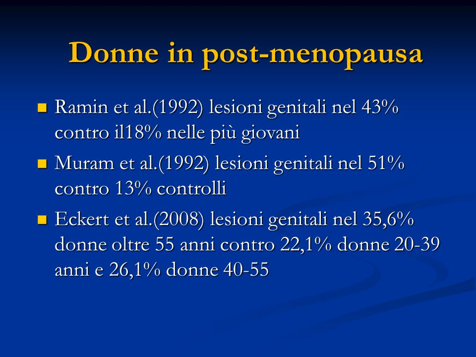 Donne in post-menopausa