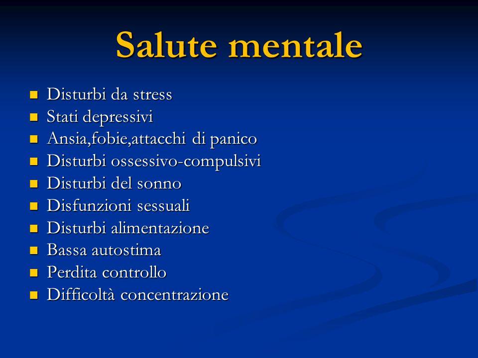 Salute mentale Disturbi da stress Stati depressivi