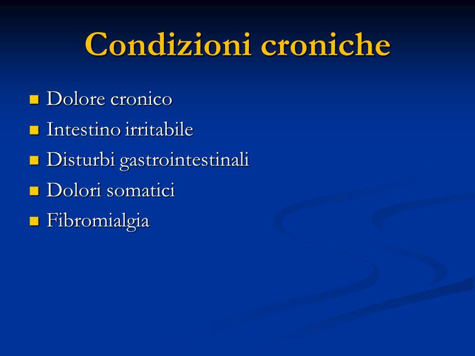 Condizioni croniche Dolore cronico Intestino irritabile