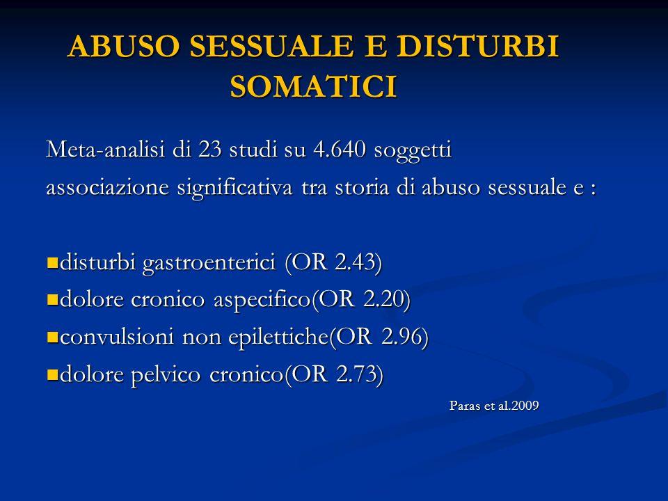 ABUSO SESSUALE E DISTURBI SOMATICI
