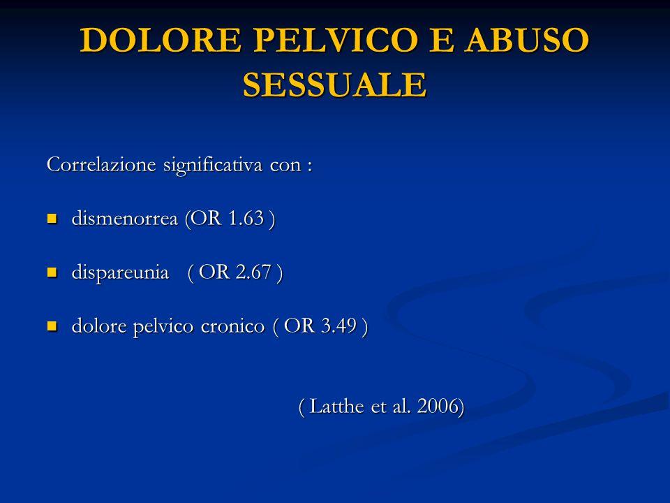 DOLORE PELVICO E ABUSO SESSUALE