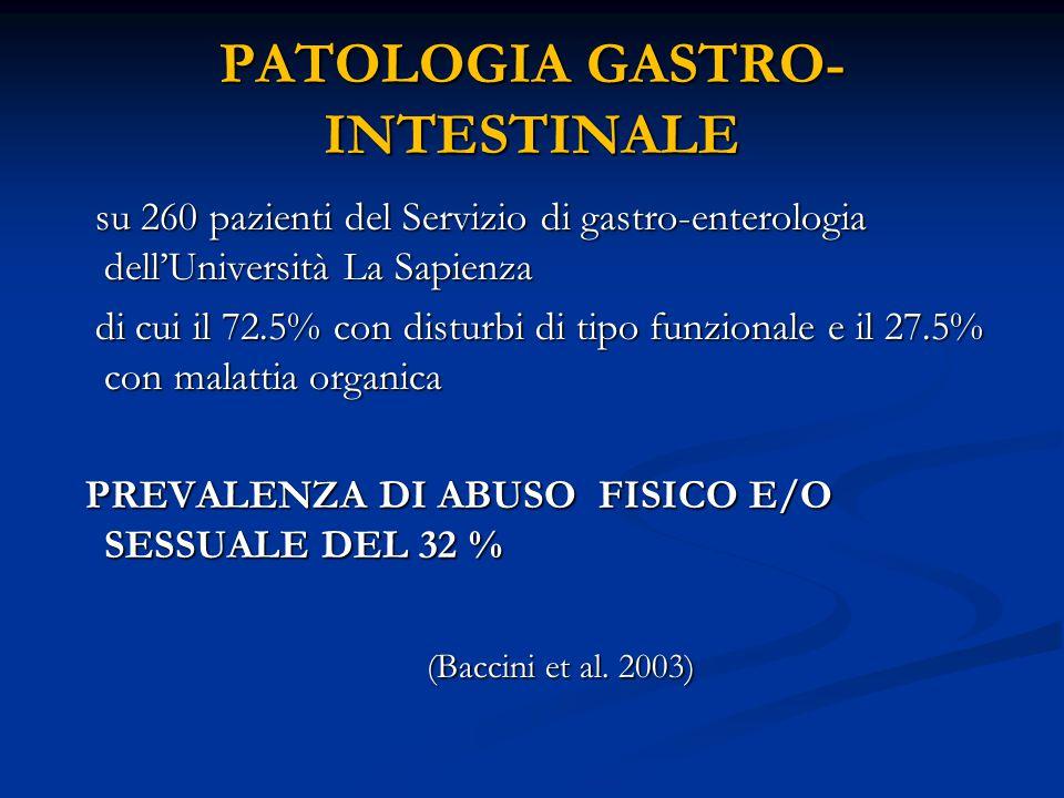 PATOLOGIA GASTRO-INTESTINALE