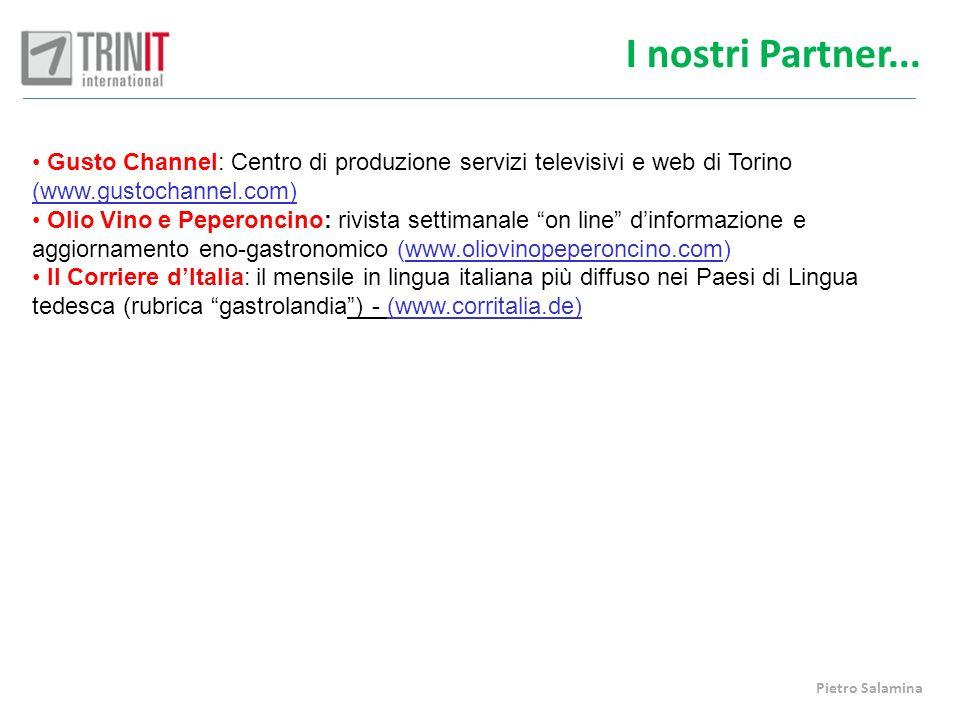 I nostri Partner... Gusto Channel: Centro di produzione servizi televisivi e web di Torino (www.gustochannel.com)