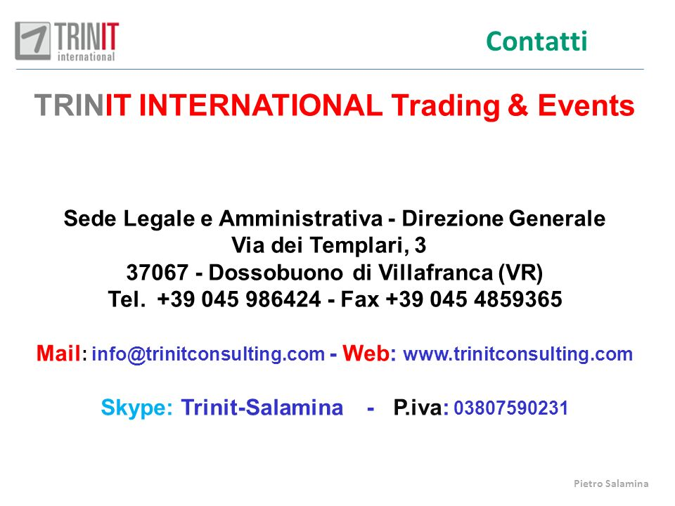TRINIT INTERNATIONAL Trading & Events