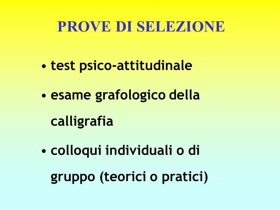 PROVE DI SELEZIONE test psico-attitudinale