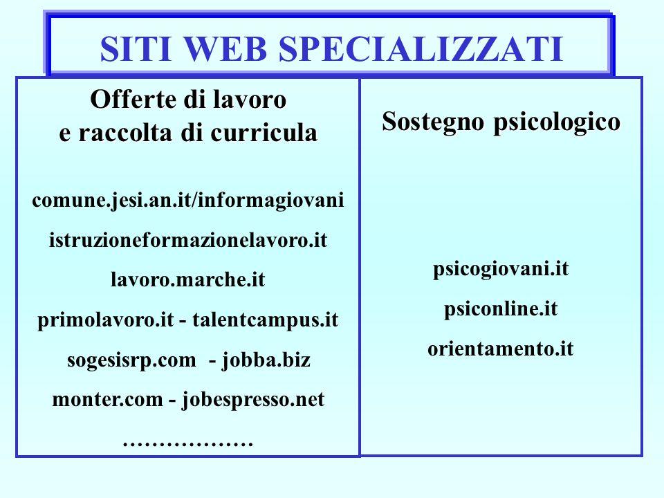 SITI WEB SPECIALIZZATI