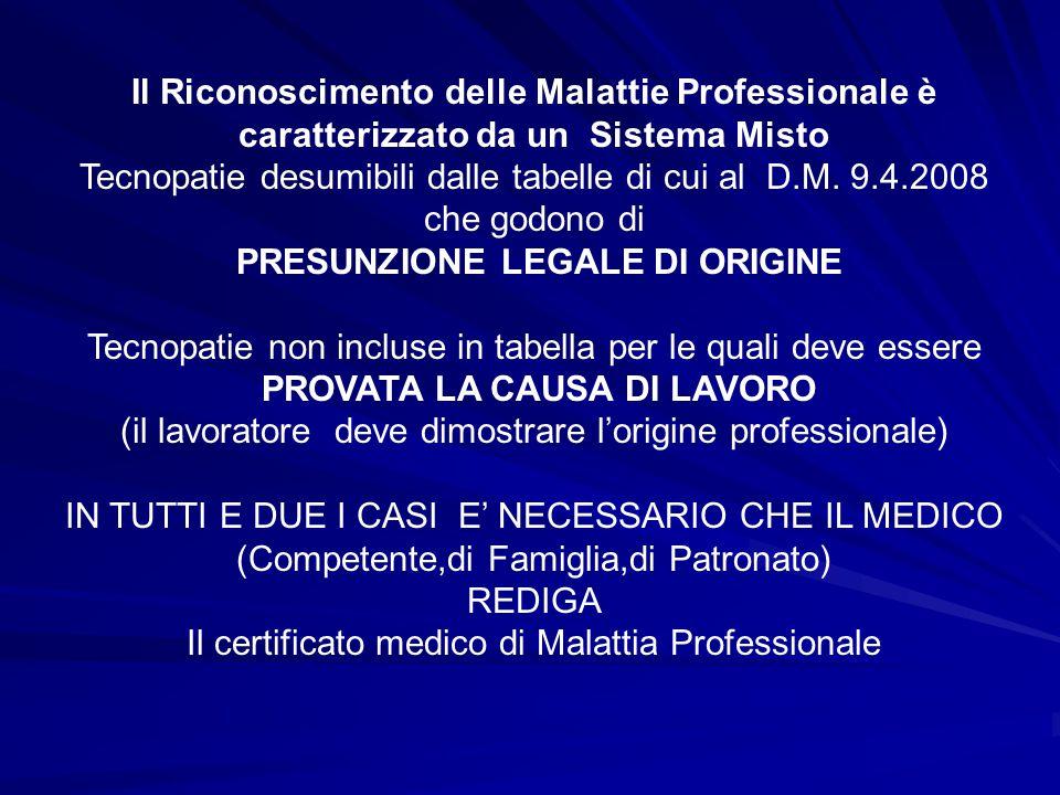 PRESUNZIONE LEGALE DI ORIGINE