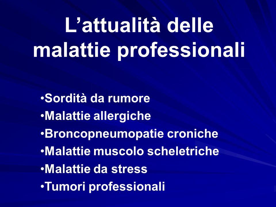 L'attualità delle malattie professionali