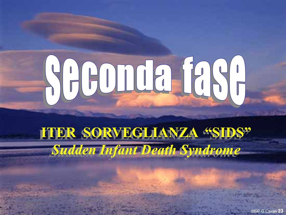 ITER SORVEGLIANZA SIDS Sudden Infant Death Syndrome