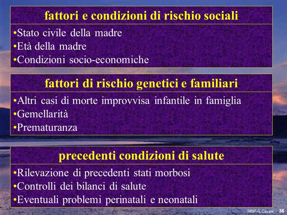 fattori e condizioni di rischio sociali